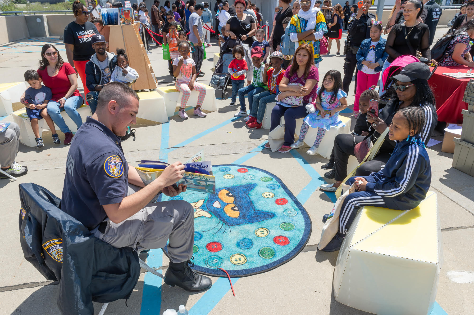 Spring KidsFest NYPD with Library Book